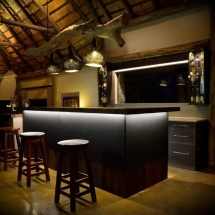 Bar area at Private Game Lodge