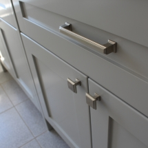 Detail of Handles on Shaker door style