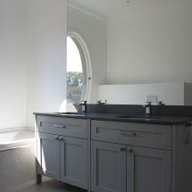 Elegant Vanity with stome top & sprayed units
